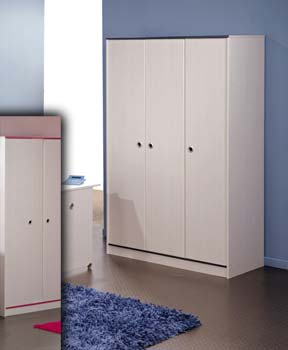 Snoopy Pink or Blue 3 Door Wardrobe