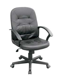 Furniture123 Spa 300 Leather Faced Managers Chair