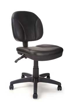 Furniture123 Task Operator 22M Leather Office Chair