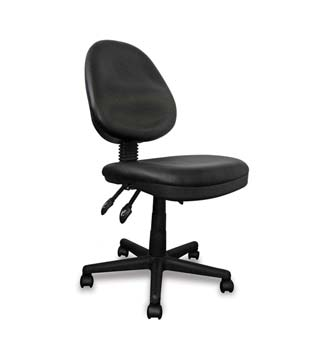 Furniture123 Turbo Black Fabric Office Chair