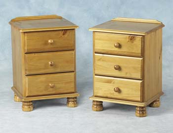 Vanessa 3 Drawer Bedside Chest