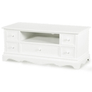 Belgravia White 5 Drawer TV Unit