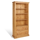 Chunky Pine 6FT Bookcase with Drawers