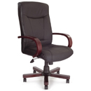 FurnitureToday Deluxe leather 4750 black office chair