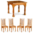 Granary Acacia Butterfly Dining Table Set