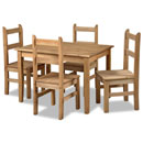 New Corona mexican pine budget dining set