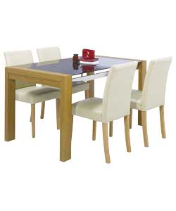 Fusion Dining Table And 4 Winslow Cream Chairs Review Compare Prices Buy