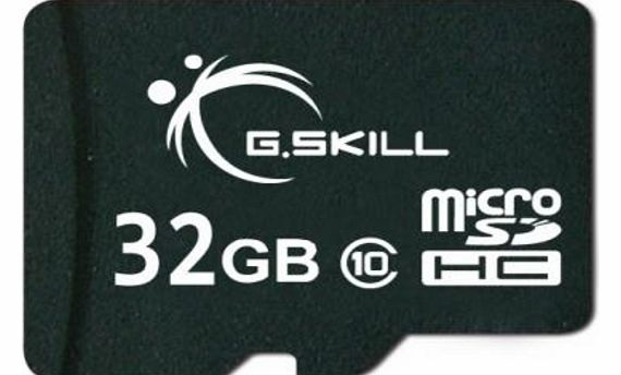 G.Skill 32GB microSDHC CL10 memory card with SD adapter