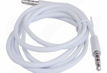 G4GADGET® Nice Quality White 3.5mm AUX Stereo Male to Male Audio Cable Cord Adapter For Apple iPad4 Ipad Air Ipad mini iPhone 5/5s,Ipod All Mp3 Mp4 Players Sony Creative Samsung, All Laptop Pc And ard 3.5Mm Jac