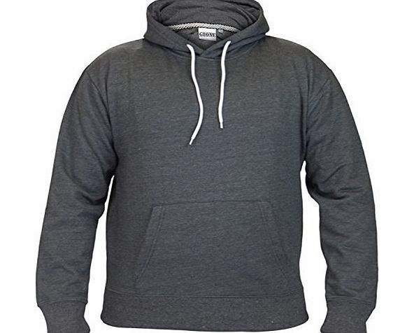 G8ONE Men Fleece Plain G8ONE Pull Over Hoodie Charcoal Extra Large