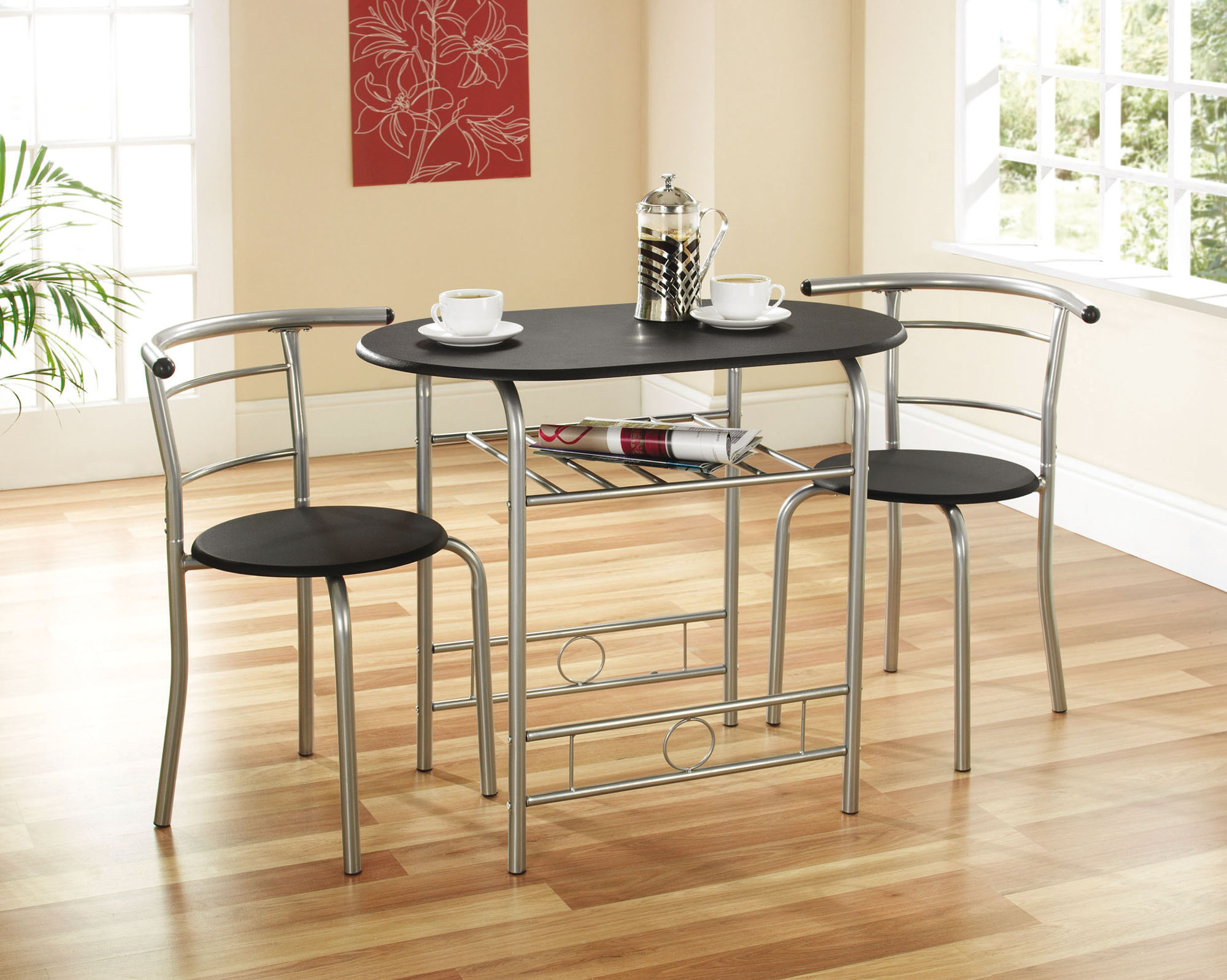 Black Compact Dining Set