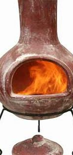 Gardeco Colima Extra Large Clay Chiminea - Red