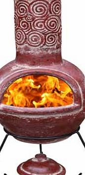Gardeco Espiral Clay Chiminea - Red