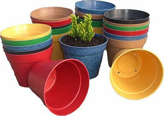 Biodegradable Mixed Colour Garden Pots