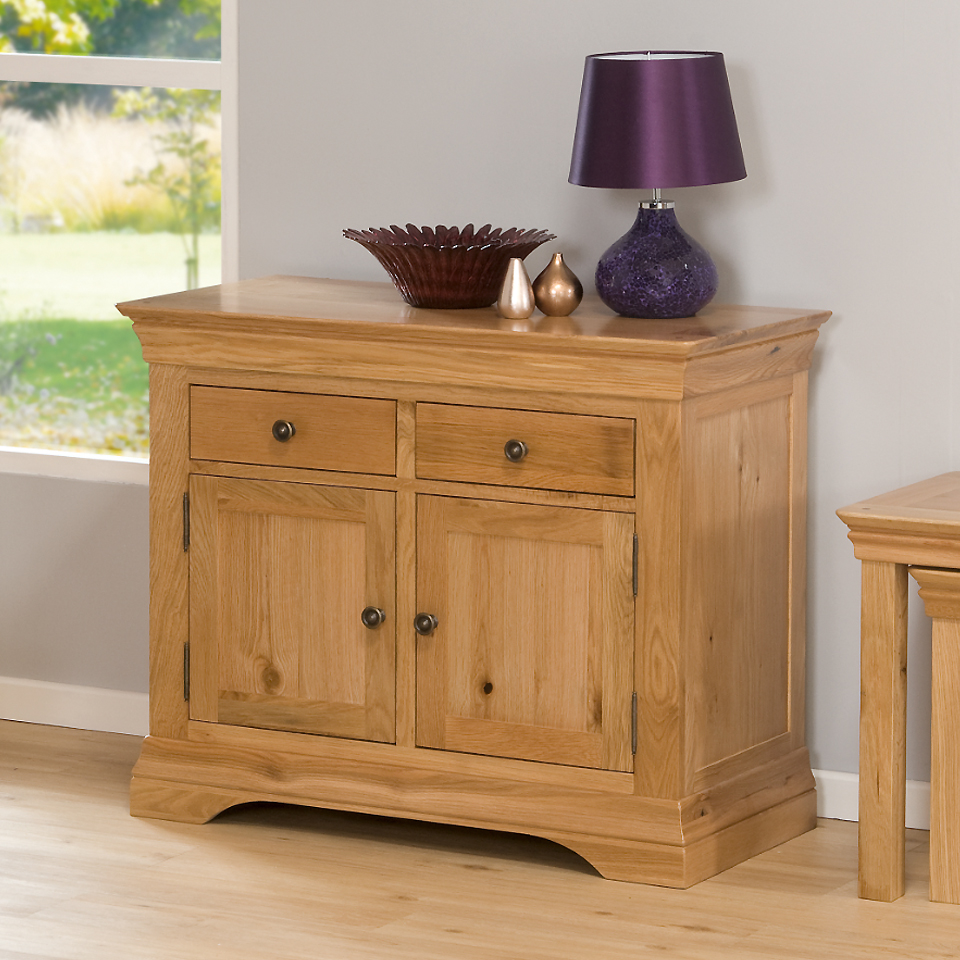 Provence Oak Sideboard with 2 Drawers