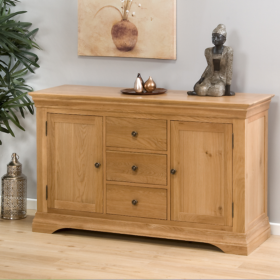 Provence Oak Sideboard with 3 Drawers