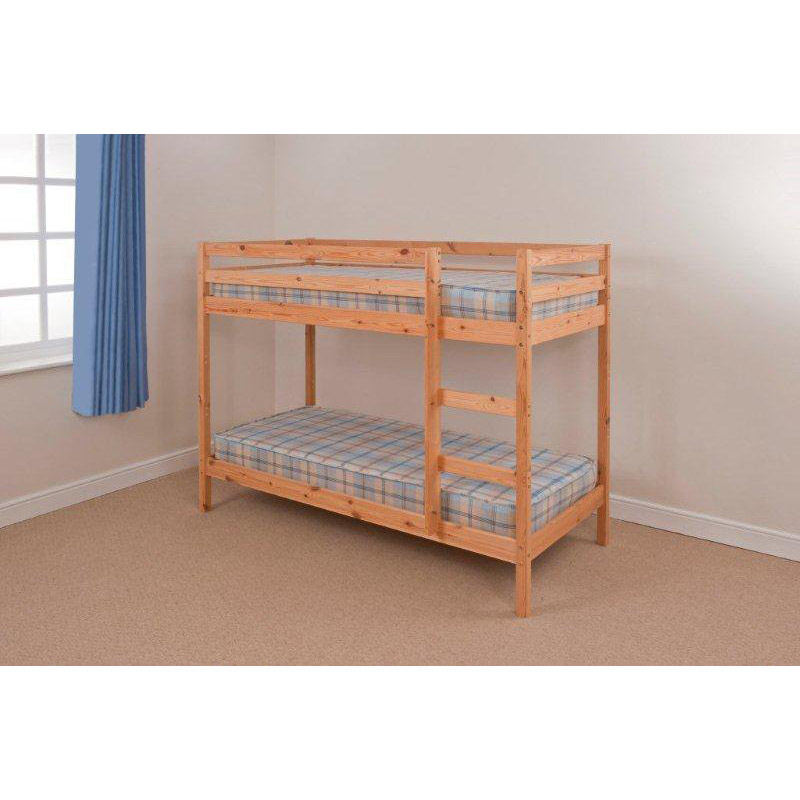 Shaker Natural Pine Twin Bunk Bed