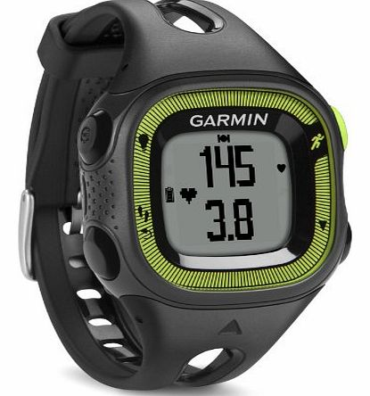 Garmin Forerunner 15 GPS Running Watch and Activity Tracker with Heart Rate Monitor, Small - Black/Green