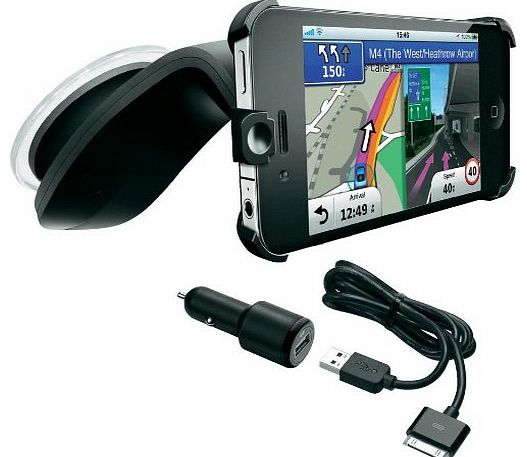 StreetPilot Navigation App and Car Kit for iPhone 4/4S with Western Europe Mapping