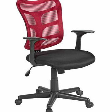 GAS Lift Mesh Office Chair - Red