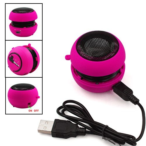 HOT PINK MINI PORTABLE SPEAKER FOR IPOD IPHONE MP3 LAPTOP IPAD FROM GB ONLINE SALES - FREE UK DELIVERY