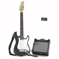 3/4 Electric-ST Guitar + Amp Pack Black