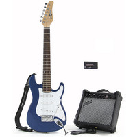 3/4 Electric-ST Guitar + Amp Pack Blue