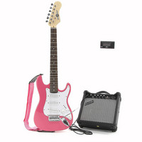 3/4 Electric-ST Guitar + Amp Pack Pink