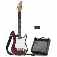 3/4 Electric-ST Guitar + Amp Pack Red