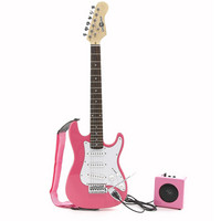 3/4 Electric-ST Guitar + Miniamp Pink