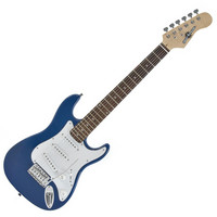 3/4 Electric-ST Guitar by Gear4music Blue