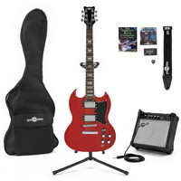 Brooklyn Electric Guitar + Complete Pack Red