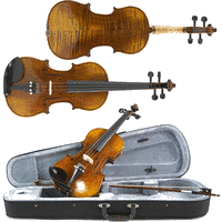gear4music Deluxe 1/4 Size Violin by Gear4music