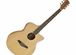 Deluxe Cutaway Folk Guitar by Gear4music Ovangkol
