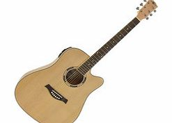 Deluxe Dreadnought Electro Acoustic Guitar Birds