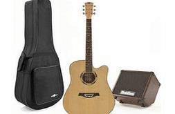 Deluxe Dreadnought Guitar and 30w SubZero Amp