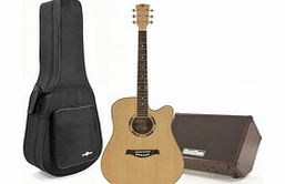 Deluxe Dreadnought Guitar and 60w SubZero Amp