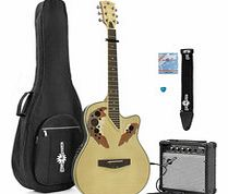 Deluxe Roundback Guitar and 15W Amp Pack Flamed