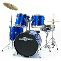 Drum Kit by Gear4music 5 Piece BLUE