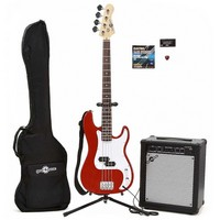 Electric G-4 Bass + 35W Amp Pack Red