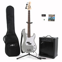 Electric G-4 Bass + 35W Amp Pack Silver