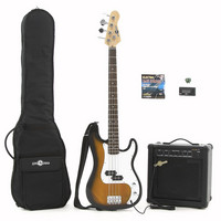 Electric G-4 Bass Guitar + 25W Amp Pack Sunburst