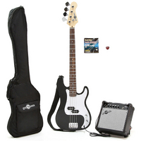 Electric G-4 Bass Guitar and Amp Pack Black