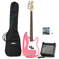 Electric G-4 Bass Guitar and Amp Pack Pink