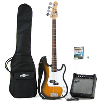 Electric G-4 Bass Guitar and Amp Pack Sunburst