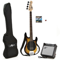 Electric G4M M Bass Guitar and Amp Pack Two Tone