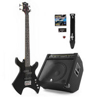 Electric Metal X Bass Guitar + 150W Power Pack