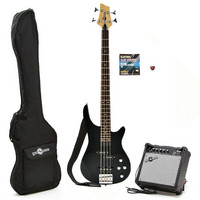 Electric RS-40 Bass Guitar and Amp Pack Black