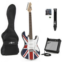 Electric-ST Guitar + Amp Pack Union Jack