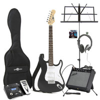 Electric-ST Guitar Black Christmas Multi FX Pack